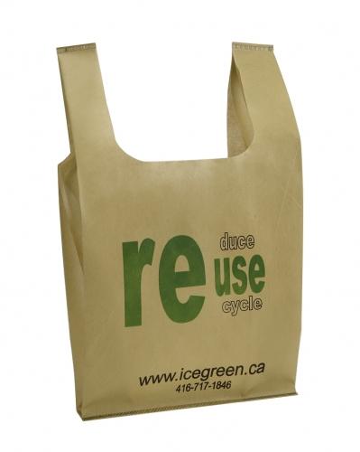 Reusable non woven t shirt bags icegreen for Reusable t shirt bags